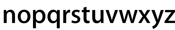 Myriad Apple Semibold Font LOWERCASE