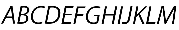 Myriad Apple TextItalic Font UPPERCASE