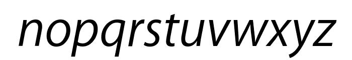 Myriad Apple TextItalic Font LOWERCASE