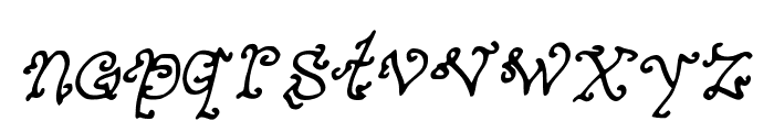 MysteriousOrientalNightsofPassion Font LOWERCASE
