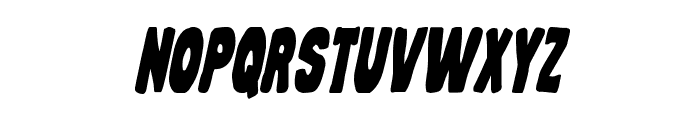 Mystery Mobile Condensed Italic Font UPPERCASE