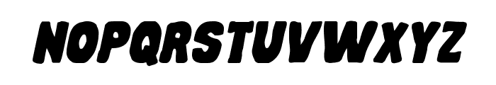 Mystery Mobile Expanded Italic Font LOWERCASE