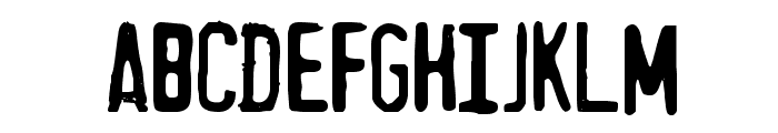 MythBusters Font UPPERCASE