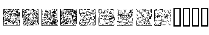 Mythago Outline Font LOWERCASE