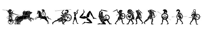 Mythical & Hoplite Noodgies Font UPPERCASE