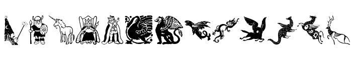 Mythological Font UPPERCASE