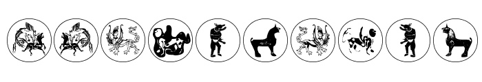 MythologicalDisks Font OTHER CHARS
