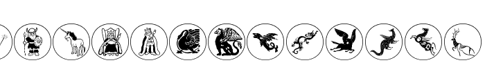 MythologicalDisks Font UPPERCASE