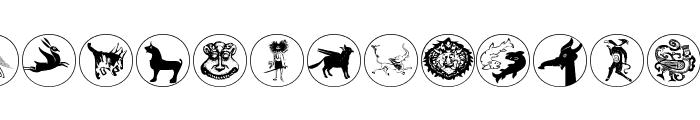 MythologicalDisks Font LOWERCASE