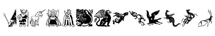 Mythological Font LOWERCASE