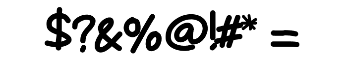 Mywriting Font OTHER CHARS