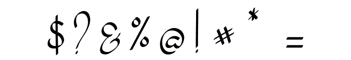 my mecca script Font OTHER CHARS