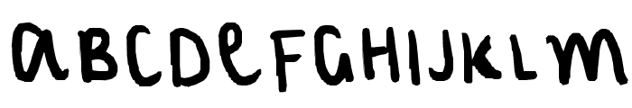 my normal handwriting Font UPPERCASE