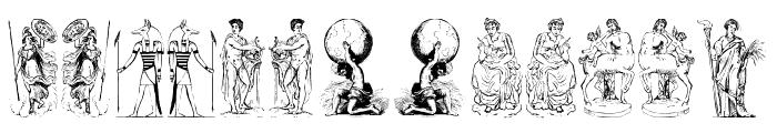 mythology one Font LOWERCASE