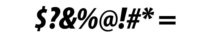 MyriadPro-BlackCondIt Font OTHER CHARS