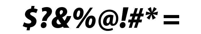 MyriadPro-BlackSemiCnIt Font OTHER CHARS