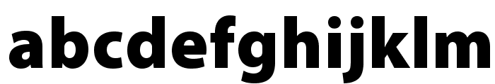 MyriadPro-Black Font LOWERCASE