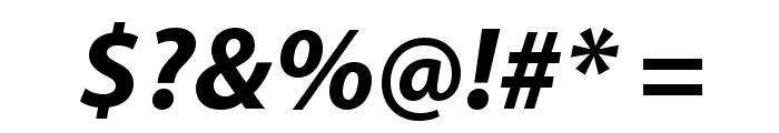 MyriadPro-BoldIt Font OTHER CHARS