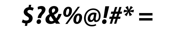 MyriadPro-BoldSemiCnIt Font OTHER CHARS