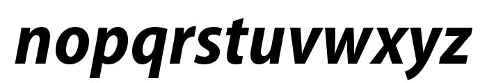 MyriadPro-BoldSemiCnIt Font LOWERCASE
