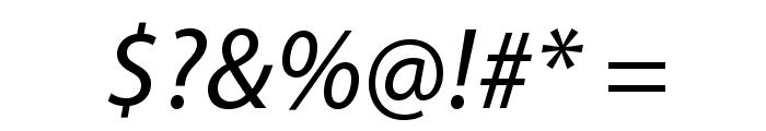 MyriadPro-It Font OTHER CHARS