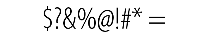 MyriadPro-LightCond Font OTHER CHARS