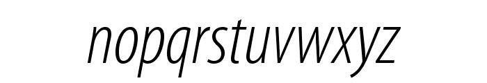 MyriadPro-LightCondIt Font LOWERCASE