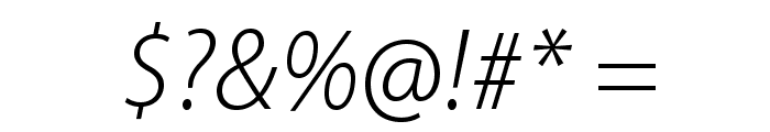 MyriadPro-LightIt Font OTHER CHARS