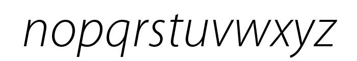 MyriadPro-LightIt Font LOWERCASE