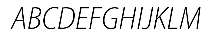 MyriadPro-LightSemiCnIt Font UPPERCASE