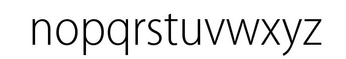MyriadPro-LightSemiCn Font LOWERCASE