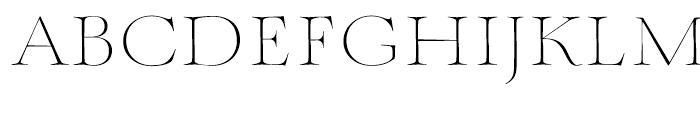 Mynaruse Thin Font UPPERCASE