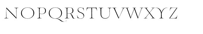 Mynaruse Thin Font LOWERCASE