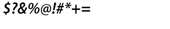 Myriad SemiBold Semi Condensed Italic Font OTHER CHARS