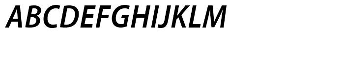 Myriad SemiBold Semi Condensed Italic Font UPPERCASE