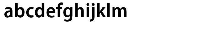 Myriad SemiBold Semi Condensed Font LOWERCASE