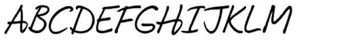My Left Hand Font UPPERCASE