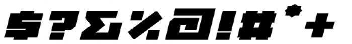 MyCRFT Black Italic Font OTHER CHARS