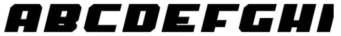 MyCRFT Black Italic Font UPPERCASE