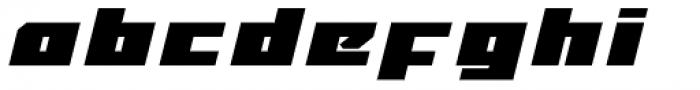 MyCRFT Black Italic Font LOWERCASE