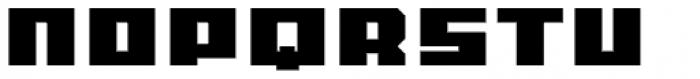 MyCRFT Black Font UPPERCASE