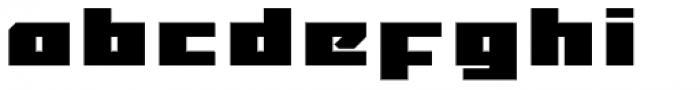 MyCRFT Black Font LOWERCASE