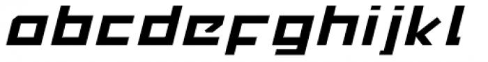 MyCRFT Italic Font LOWERCASE