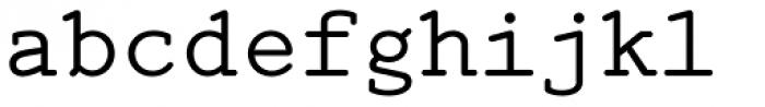 Mymra Mono Font LOWERCASE
