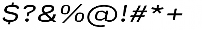 Mynor Regular Expanded Italic Font OTHER CHARS