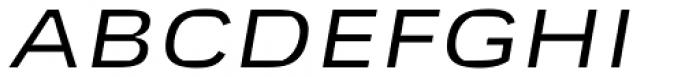Mynor Regular Expanded Italic Font UPPERCASE