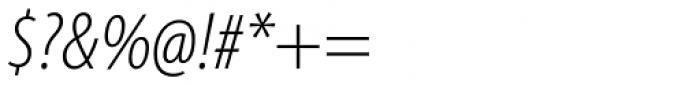 Myriad Pro Cond Light Italic Font OTHER CHARS