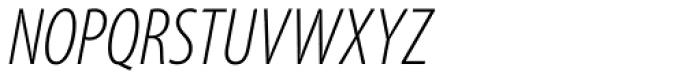 Myriad Pro Cond Light Italic Font UPPERCASE