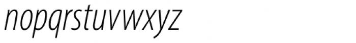 Myriad Pro Cond Light Italic Font LOWERCASE