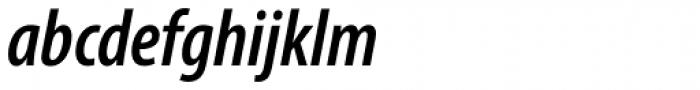 Myriad Pro Cond SemiBold Italic Font LOWERCASE